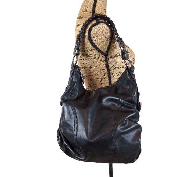 Francesco Biasia Large Leather Hobo Shoulder Bag